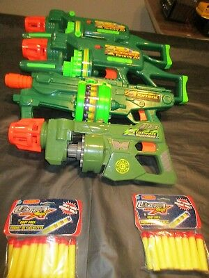 Nerf Lot of 4 Buzz Bee Air Blasters 2 Motorized Tommy 20, Torrent, Ultimate