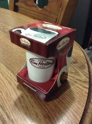 Tim Horton's Coffee Cup Mug Christmas Ornament 2011 Limited Edition New In Box