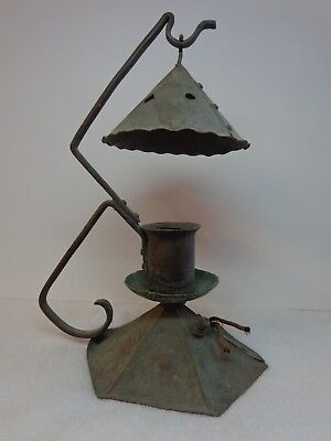 Vintage Solid Copper Mission Style Arts and Crafts Movement Table Lamp