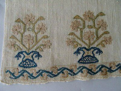 FAB RARE Antique Turkish Ottoman Hand Embroidered Towel