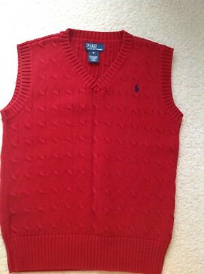 Used Vest Polo By Ralph Lauren Youth Size M Medium