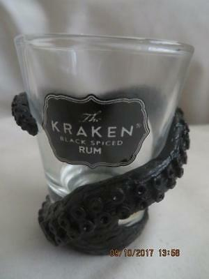 The Kraken Black Spiced Rum Tentacle Wrapped Shot Glass Set of 2 Brand New, Boxs