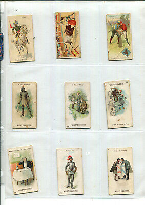 Wills Vintage Cigarette Cards Various X 9 Cards