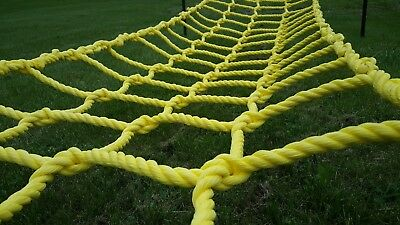 "Climbing net cargo net ROPE NET made from heavy duty 3/4"" rope, indoor or out."