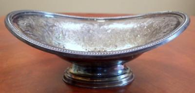 Antique Silverplated Candy Dish Bowl England 1910 Patina Hallmarked