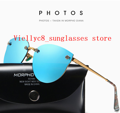 NEW Fashion Vintage UV400 Outdoor Shades Women  Retro Round Polarized Sunglasses