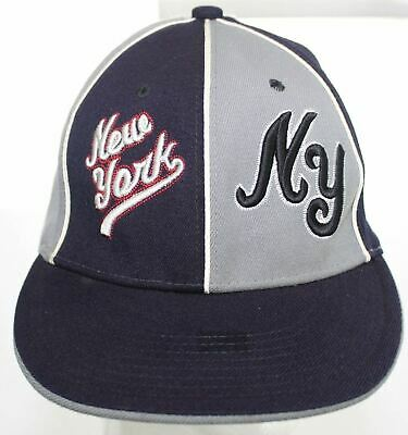 76ef7334e7a New York Liberty Cap Major Cap Hat Fitted Hat Size L XL Blue Gray