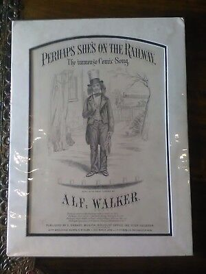 """Genuine """"Old"""" Print . """"Perhaps She's On The Railway"""".300mm x 400mm"""