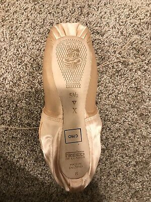 Freed Pointe Shoes Size 5-1/2 X V Maker Classic Pro