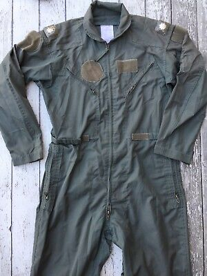 Vintage Military Zip Up Coveralls Flyers Summer Fire Resistant 42 Regular