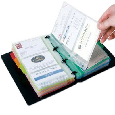 1*Business Card Holder Book Name Card Organizer Book Case Book 180 Cards Gift AU