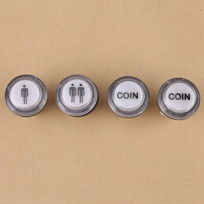 4PC LED Arcade Start Push Button Kit 1 Player +2 Player + LED Coin Button 12V DH