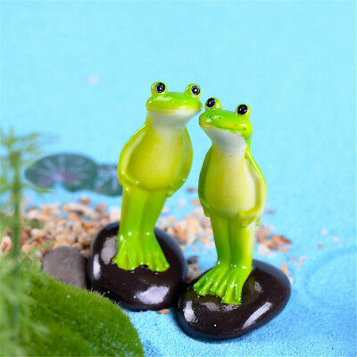 Standing Frog Miniature Fairy Garden  Decoration Craft Landscaping Accessory S5T