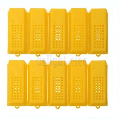 10Pcs Professional Queen Bee Butler Cage Catcher Trap Case Beekeeping Tool DH