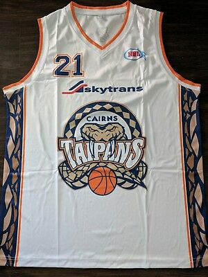 Larry Abney 2007 Cairns Taipans replica NBL Jersey - #21 - mens large