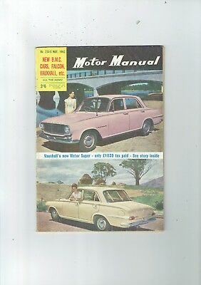 Motor manual #235 May 1962 FORD FALCON PURSUIT Road Test  TT