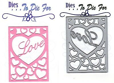Dies to die for metal cutting craft die Love heart plate Limited edition