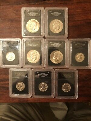 Lot Of Brilliant Uncirculated Eisenhower And Susan B Anyhony Dollars