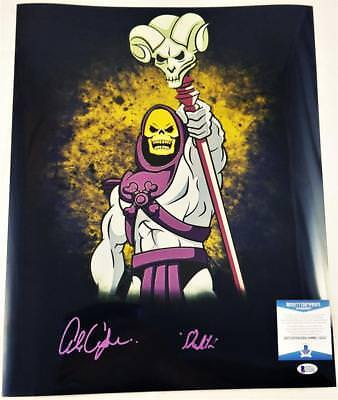 Alan Oppenheimer Skeletor Signed Motu 16X20 Metallic Photo Bas Coa 247
