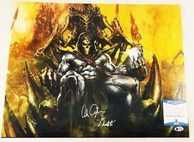 Alan Oppenheimer Skeletor Signed Motu 16X20 Metallic Photo Bas Coa 319