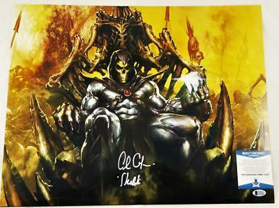 Alan Oppenheimer Skeletor Signed Motu 16X20 Metallic Photo Bas Coa 205