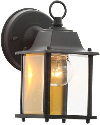 Outdoor porch glass lighting wall exterior patio black lantern outdoor porch glass lighting wall exterior patio black lantern fixture lamp new mozeypictures Images