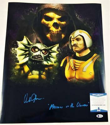 Alan Oppenheimer Skeletor Signed Motu 16X20 Metallic Photo Bas Coa 399