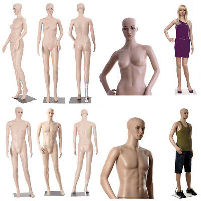 Full Body Dummy Mannequin Retail Dressmaker Female Male for Shop Window Display
