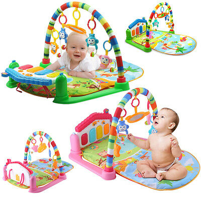 3 Styles Baby Gym Play Mat Lay and Play 3 in 1 Fitness Music And Light Fun Piano