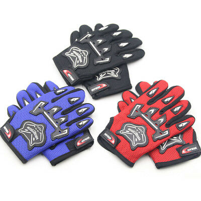 Kids Children Bike Cycling Full Finger Gloves Boys & Girls Sports Bicycle Riding
