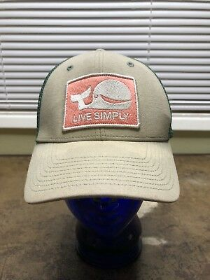 PATAGONIA LIVE SIMPLY Hat SnapBack Mesh 2 Tone Very Rare Whale ... dc4cec36cd6