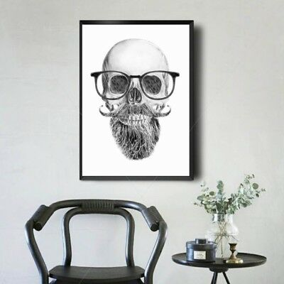Skull Modern Art Oil Painting Canvas Print Wall Picture Home Decor Unframed