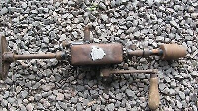 Large Vintage 2 speed Breast Drill; Old Tool; Collectable; Works