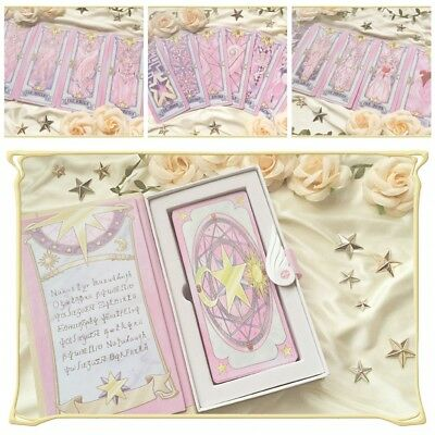 New Card Captor Sakura 56 Piece Cards With Pink Clow Magic Book Set New In Box Novelty & Special Use