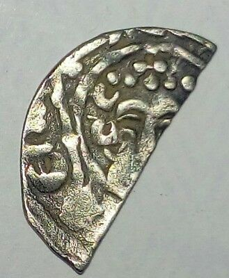 English Medieval Henry ll , Short Cross Half Penny Henri On Lund Very Rare