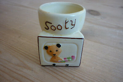 Sooty Egg Cup, Keele St. Pottery