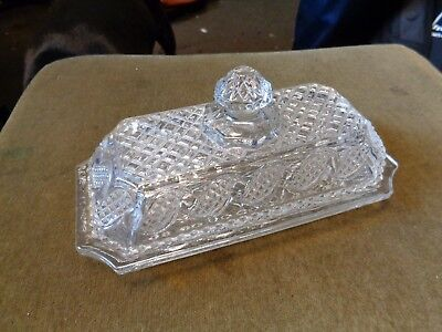 avon glass butter dish top and bottom