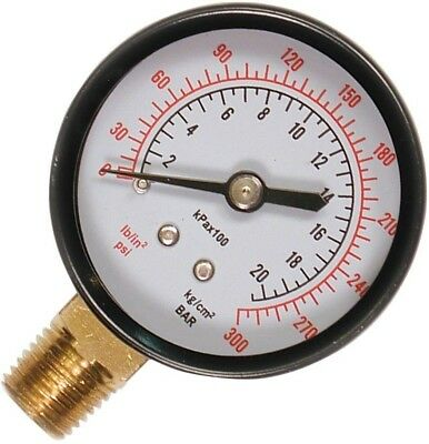 Pressure Gauge Bottom Mount 0 -300 PSI 1/4 In NPT Air Compressor Steel Frame