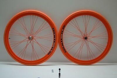Ruote 28 fixed cerchi single speed scatto fisso gipiemme 1v arancio personalizza