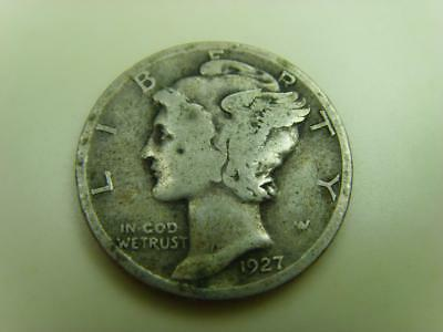 1927 Usa One Dime Ten Cents Mercury United States Of America Coin