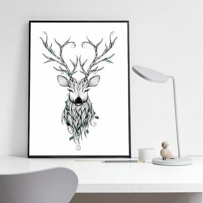 Unframed Deer Modern Art Oil Painting Canvas Print Wall Picture Home Room Decor