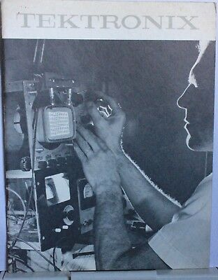A 30 page booklet showing scenes from the various Tektronix departments in 1966