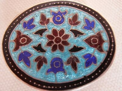 Indian Silver Enamel Pill Box