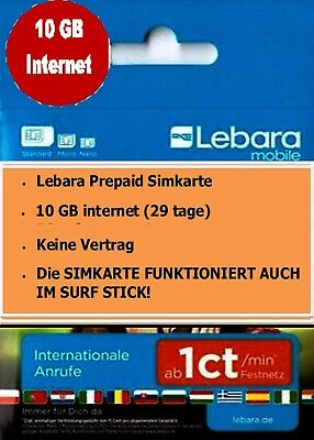 lebara prepaid sim karte inkl 5gb internet flat voip d1 netz wow triple eur 24 90. Black Bedroom Furniture Sets. Home Design Ideas