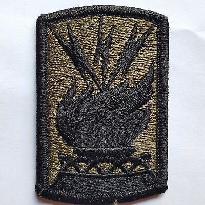 U.s. Army Aufnäher Patch 187Th Signal Brigade Oliv Subdued Tarn Neu Original