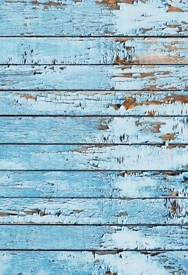 2x3ft Peeling Blue Wood Board Photography Background Food Studio Photo Backdrops