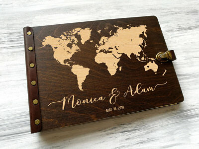 Map guestbook travel journal destination wedding guest book travel wedding guest book world map travel guestbook wedding map adventure wedding gift gumiabroncs Image collections