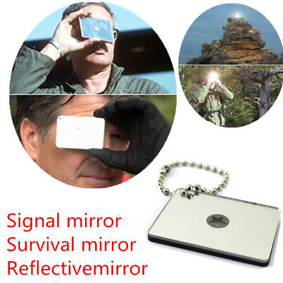 Outdoor Emergency Floating Signal Mirror Suvival Bushcraft EDC Portable