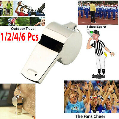 1x 2x 4x 6x Metal Referee's Sports Whistle PE School Football Rugby Dog Training