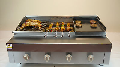CHARGRILL WITH GRIDDLE & HOT PLATE NATURAL GAS OR LPG CHARCOAL Flame GRILL NEW